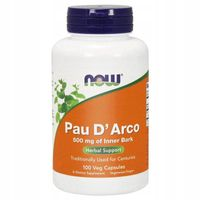 Pau DArco 100 kaps Now Foods ekstrakt z La pacho