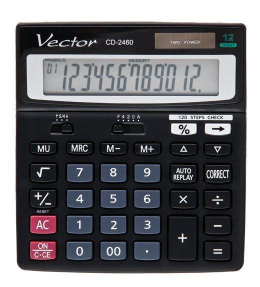 Kalkulator Vector CD-2460 - 120 kroków zdjęcie 1