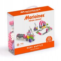 Marioinex Klocki Wafle Mini Konstruktor, 140 szt, kreatywne, dla dziew