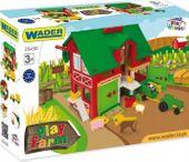 Domek farmera farma traktory zwierzęta Wader