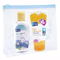 SKARB MATKI żel do mycia rąk + krem z filtrem SPF50 + kosmetyczka