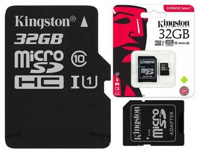 KINGSTONE KARTA UHS 32 GB CLASS 10 DO KAMER GOPRO