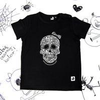 Rockowa koszulka dziecięca z krótkim rękawem Skull Girl Mia Rock 116