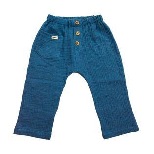 Spodnie muślinowe chłopięce bawełniane