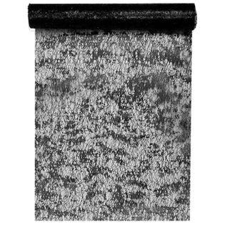 """Bieżnik """"Błyszczący, czarny"""", SANTEX, 500 x 28 cm"""