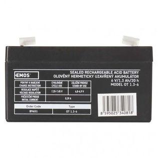 Akumulator AGM 6V 1,3Ah faston 4,7