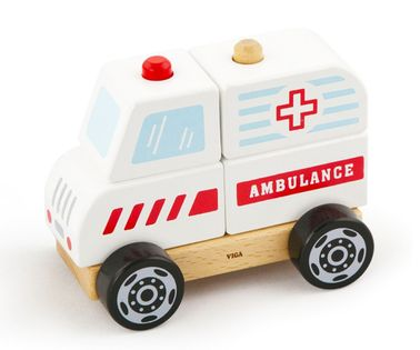 Klocki do zabawy ambulans 2666 Viga 50204