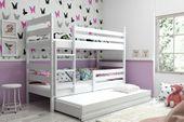 Łóżko piętrowe trzyosobowe Eryk 190x80 dla dzieci dziecięce + STELAŻ zdjęcie 8
