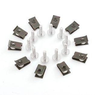 Spinki do owiewek M5, Kołki montażowe 5mm, Blaszki, Śrubki