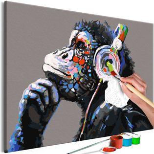 Obraz do samodzielnego malowania - Muzykalna małpa