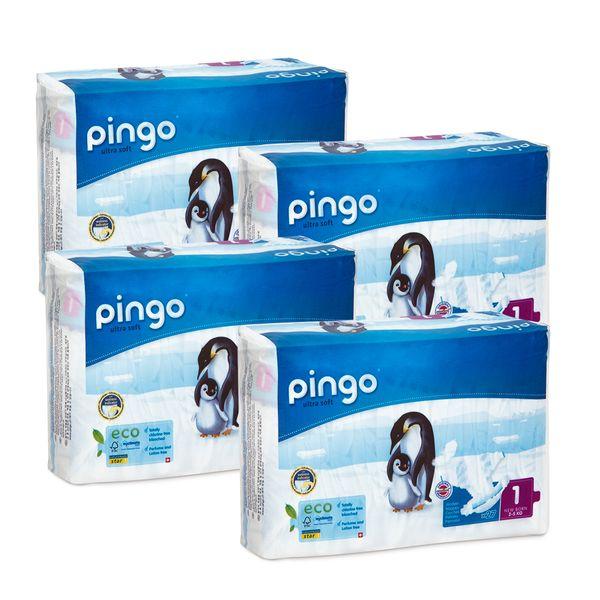 Pieluszki Pingo Ultra Soft 1 New Born 2-5kg 108szt. (4x27) na Arena.pl