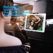 Uchwyt na zagłówek Baseus Backseat dla tabletów i smartfonów (srebrny) zdjęcie 5
