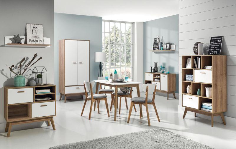 Skandynawski biały stolik kawowy Nordic zdjęcie 3
