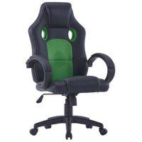 Fotel dla gracza zielony sztuczna skóra VidaXL