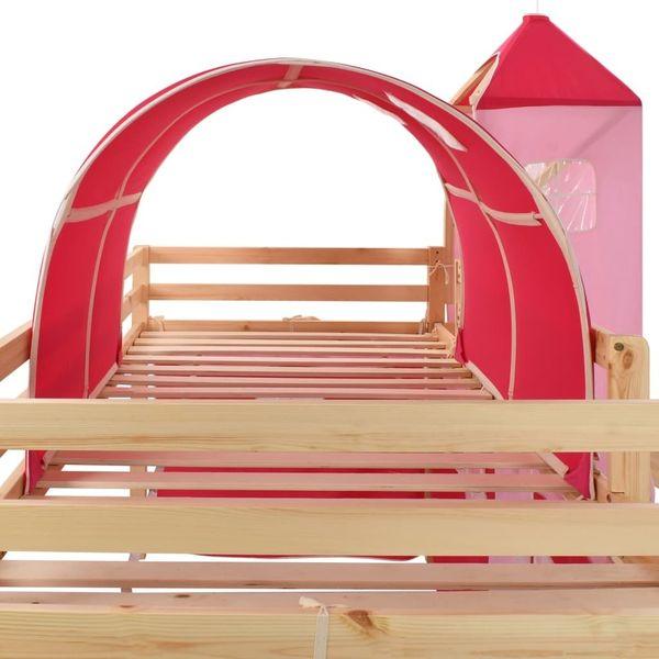 Wysoka Rama łóżka Dziecięcego Zjeżdżalnia I Drabinka 97x208 Cm 282712