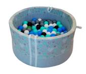 Suchy basen dla dzieci z piłeczkami - miętowe serduszka - grube DNO