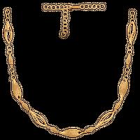 elegancka i stylowa kolia, składa się z  przestrzennych elementów złoto 585/14k