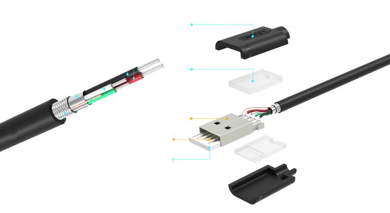UNITEK | KABEL MICRO-USB | QUICK CHARGE | 5 SZTUK - 1M METR zdjęcie 5