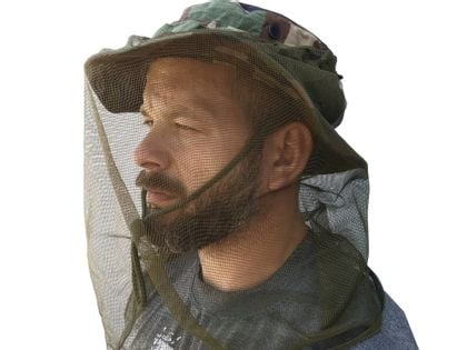 Oryginalna Austriacka moskitiera wojskowa na głowę