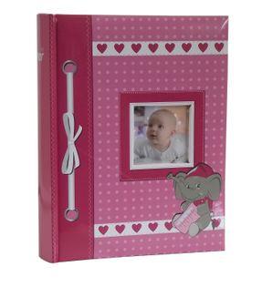 ALBUM DZIECKA, albumy dziecięce 200 zdjęć 10x15 cm opis AB różowy