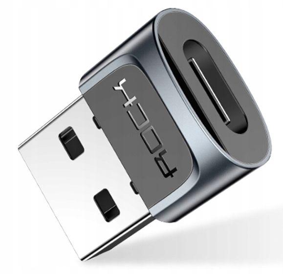Adapter ROCK Przejściówka USB-C typ C do USB-A na Arena.pl