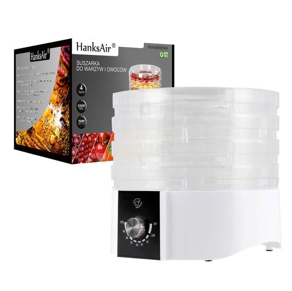 Suszarka do owoców warzyw grzybów i ziół 520W 4 kg zdjęcie 4