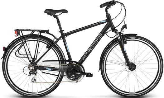 "Kross Trans 3.0 28 M19"" rower CZARNO NIEBIESKO SREBRNY MAT"