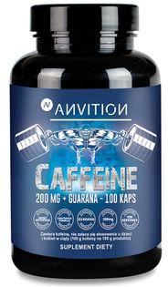 Caffeine 200 mg + guarana  Anvition 100 kapsułek Aliness