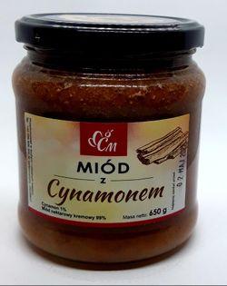 Miód z cynamonem cejlońskim 650g