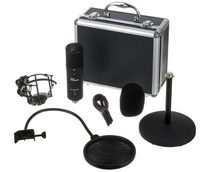 Zestaw do podcastu mikrofon słuchawki the t.bone  SC 420 USB