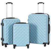 Zestaw twardych walizek 3 szt. niebieskie ABS VidaXL