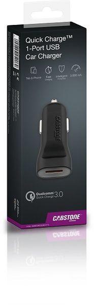 Ładowarka samochodowa Quick Charge™ USB CABSTONE zdjęcie 3