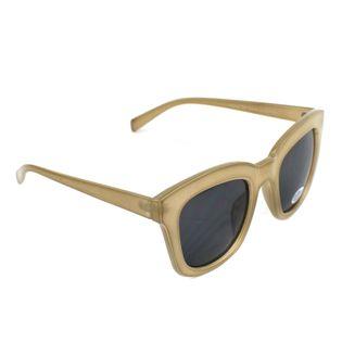 Okulary przeciwsłoneczne damskie kocie beżowe FT