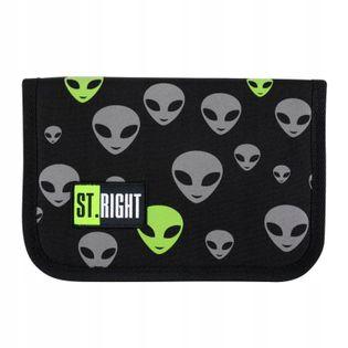 Piórnik Szkolny Dwuklapkowy Aliens Kosmici Ufo