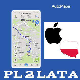 AutoMapa Polski licencja 2 lata - iPhone iOS