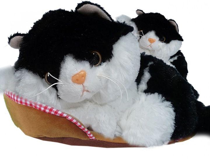 Kot CZARNY + MAŁY KOTEK Reaguje na dotyk Madej zdjęcie 1