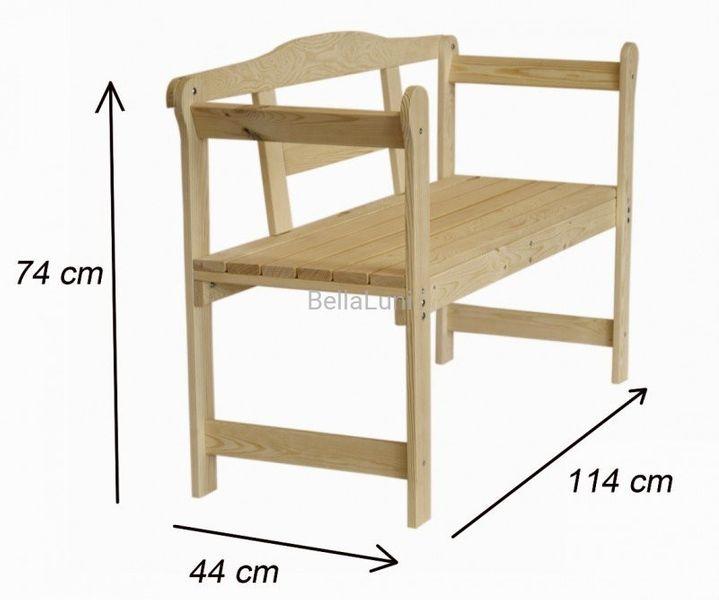 Inne rodzaje Stylowa ławka drewniana z oparciem - naturalna sosna • Arena.pl DA32