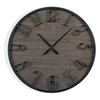 Zegar Ścienny Drewno MDF/Metal (5 x 60 x 60 cm)