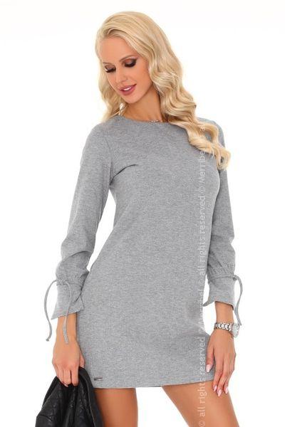 808579f99d Szara zmysłowa elegancka sukienka mini L • Arena.pl
