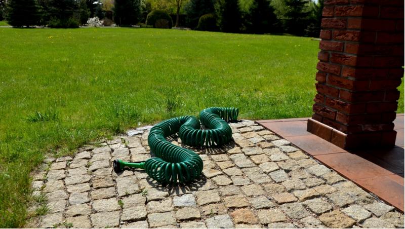 Wąż Ogrodowy Spiralny Wytrzymały 30 M 1/2 Cala + Pistolet 5 funkcji na Arena.pl