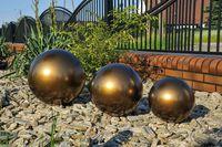 Kula ogrodowa Era 30cm kula dekoracyjna z żywicy poliestrowej Stare Złoto