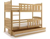 Łóżko łóżka dziecięce Kubuś piętrowe dla dwójki osób 190x80 + SZUFLADA zdjęcie 12