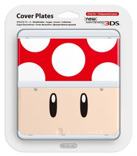 New 3DS Cover Plates 7 (Toad Red)