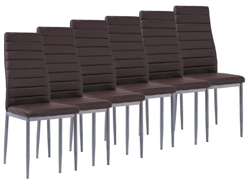 Tanie Krzesła 6 Szt H261 Bis Alu Brąz Do Salonu Jadalni Okazja