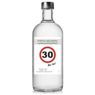 """Etykieta na butelkę """"Urodziny 30 znak"""", 85x120 mm, 5 szt"""