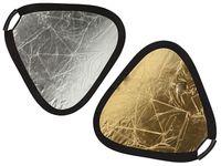 Blenda trójkątna 2w1 srebrno-złota uchwyt 60cm