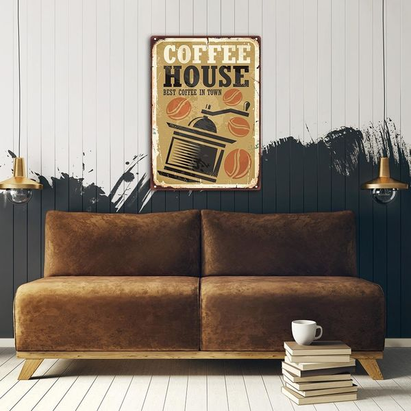 Wydruk na metalu, Retro – młynek do kawy 30x40 zdjęcie 3