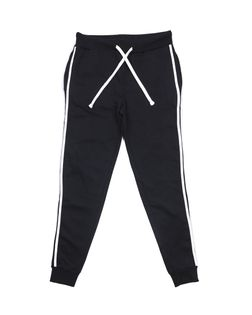 PEPCO Męskie spodnie sportowe z białym lampasem XXL Czarny