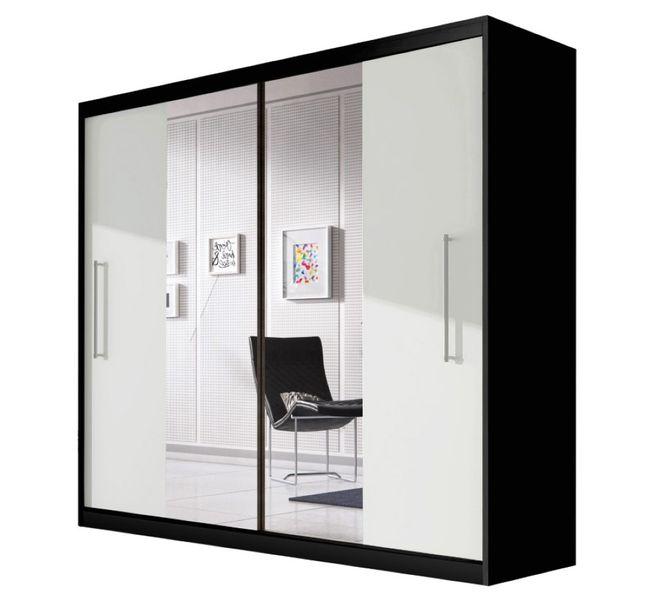 Szafa przesuwna RICO 204 z lustrem + półki zdjęcie 1