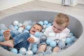 Suchy basen dla dzieci z piłeczkami 100x50 okrągły 500 szt. piłek Kolor - różowy jasny